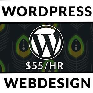 $55/hr Website and Graphic Design