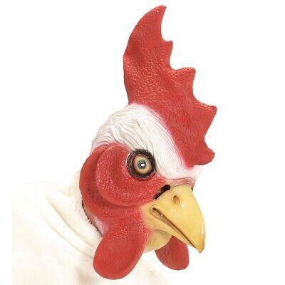 LATEX HAHN MASKE # Hahnmaske Huhnmaske Vogelmaske Maskottchen Kostüm Deko 96648 (Latex Maske Vogel)