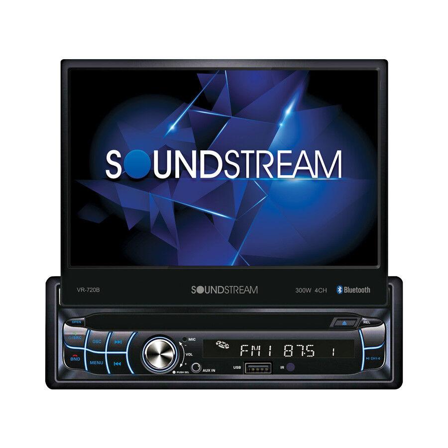 """NEW Soundstream 1 Din VR-720B DVD/CD Player Flip Up 7"""" LCD B"""