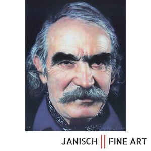 GOTTFRIED HELNWEIN, Lithografie 'Tinguely', handsigniert, Auflage 100, 80x60 cm!