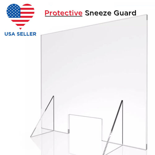 SNEEZE GUARD Plastic Divider PROTECTION Barrier SHIELD CHECKOUT COUNTER Desk