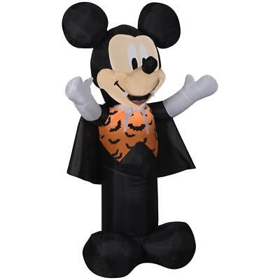 Gemmy Halloween Disney Mickey Mouse Lighted Airblown Inflatable New 3.5' Tall (Disney Halloween Airblown Inflatables)