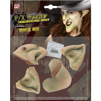 FX DELUXE HEXEN SET # Halloween Latex Nase Kinn Ohren Kostüm Profi Make-Up 4141 ()