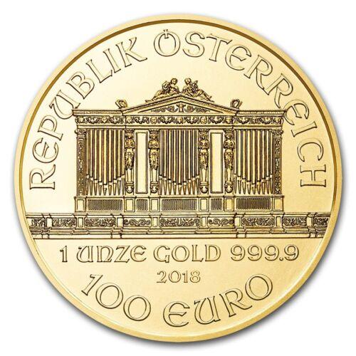 Купить Austrian Mint - 2018 Austria 1 oz Gold Philharmonic BU - SKU #159270