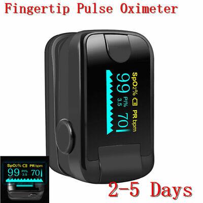 Usa Portable Oled Fingertip Pulse Oximeter Spo2 Pr Pi Heart Rate Monitor Fda Ce