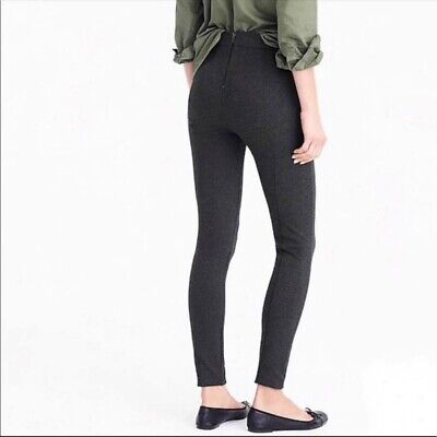 J.CREW Women's Size 2 Charcoal Gray PIXIE PANT Fitted Ponte Leggings