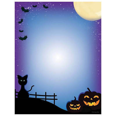 Halloween Computer Paper (Pumpkins & Black Cats Halloween Computer Printer Paper (100 Sheets))