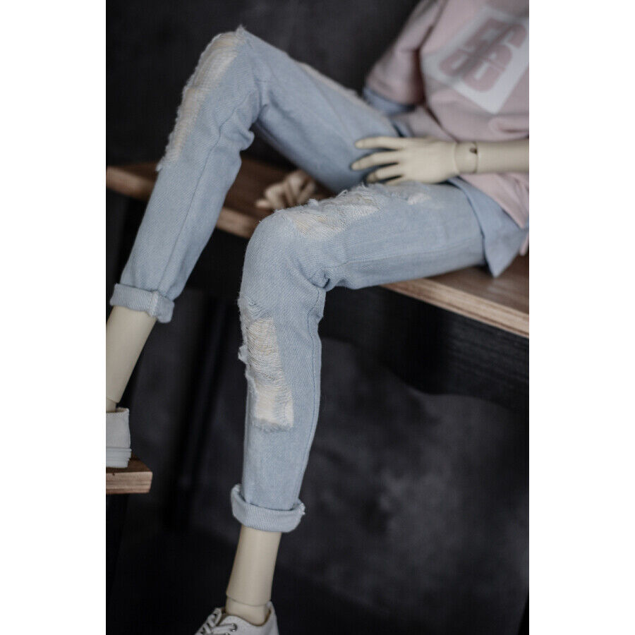 Navy Blue Jeans Pants Trousers Outfit Clothes For 1//4 17in Boy BJD MSD AOD DOLL