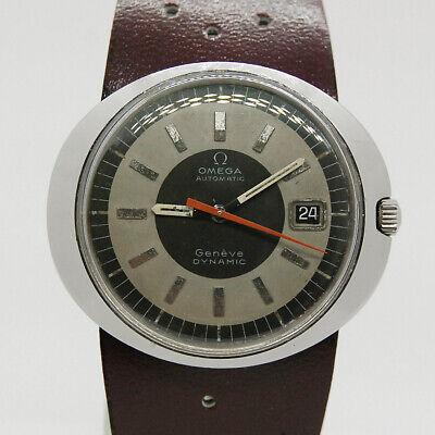 Vintage 60`s OMEGA GENEVE DYNAMIC Aut Cal 565 Black & Gray Dial St Steel