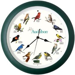 AUDUBON 8 SINGING BIRD CLOCK w/ 12 Most Popular North American Song Birds  #dm