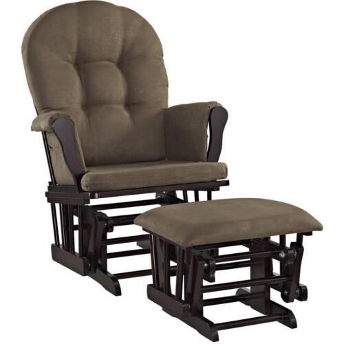 Rocker Glider Chair & Ottoman Set Microfiber Baby Nursery Furniture Modern NEW