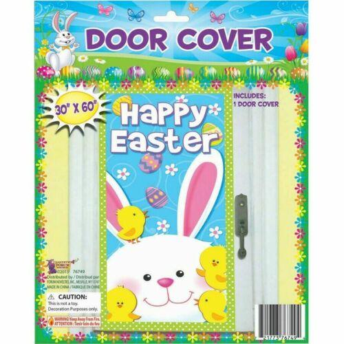 "Happy Easter Door Cover 30"" x60"" Spring decor panel"