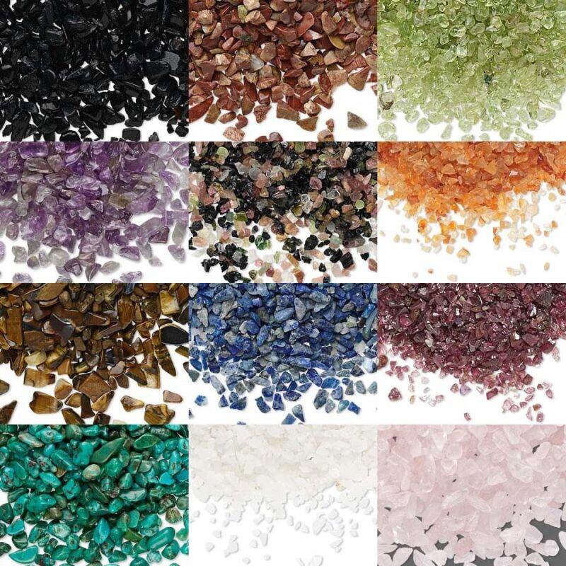Gemstone Embellishment Pieces, Small Undrilled Genuine Natural Mini Gem Chips