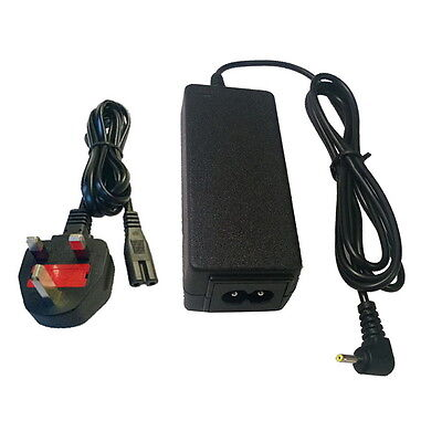 Laptop AC Adapter Charger for Asus Eee PC R101 R105 1005P + LEAD POWER CORD (Laptop Ac Power Cord)