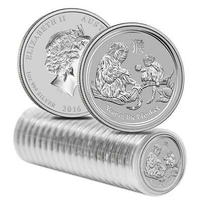 2016 Australia 1 oz Perth .999 Silver Lunar Monkey (from mint roll, in capsule)