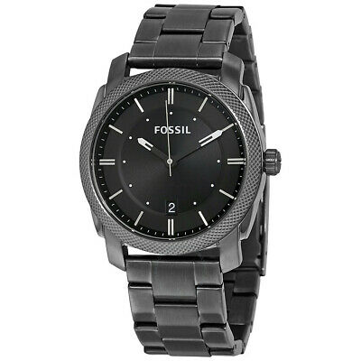 Fossil FS4774 Machine 42MM Men's Black Stainless Steel Watch