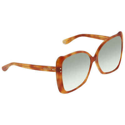 Gucci Light Green Gradient Butterfly Ladies Sunglasses GG0471S 003 (Gucci Butterfly Sunglasses)