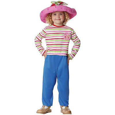 GIRLS STRAWBERRY SHORTCAKE COSTUME JUMPSUIT & HAT S PM4162LG - Strawberry Shortcake Girls Costume