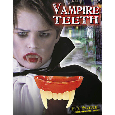 Halloween Kostüme Vampir Kinder (VAMPIR ZÄHNE KINDER Halloween Kostüm Zubehör Dracula Gebiss Karneval Party  4089)