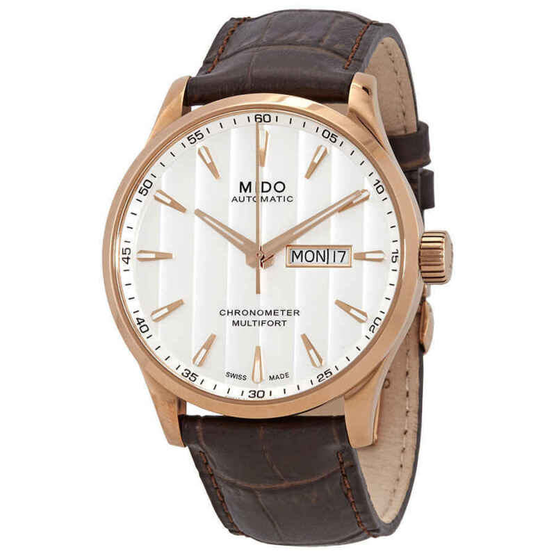 Mido Multifort Automatic White Dial Men Watch M0384313603100