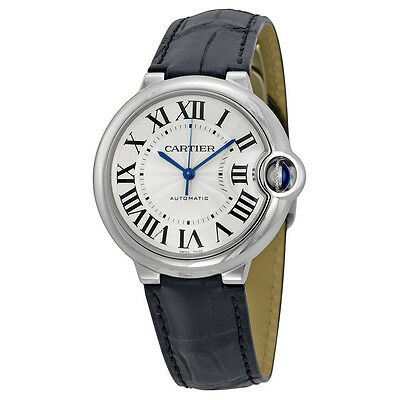 Cartier Ballon Bleu Automatic Silver Dial Ladies Watch W69017Z4