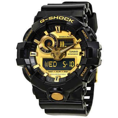 - Casio G-Shock Gold-Tone Dial Black Resin Men's Watch GA-710GB-1ACR