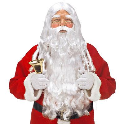 WEIHNACHTSMANNBART Weihnachtsmann Nikolaus Perücke Bart Augenbrauen Kostüm - Weiße Augenbrauen Kostüm