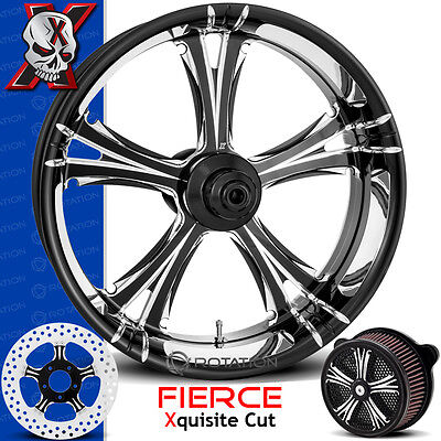Xtreme Machine Fierce Xquisite Cut Motorcycle Wheel Harley Touring Baggers 21 PM
