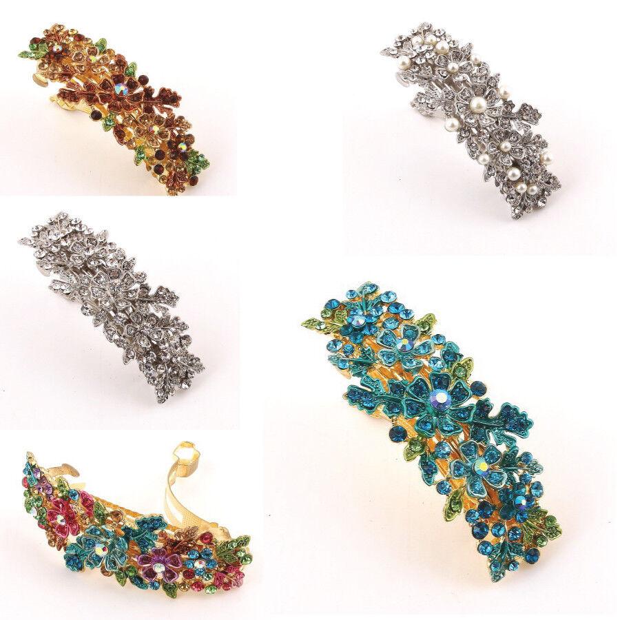 Hot USA seller beautiful silver tone rhinestone crystal hair