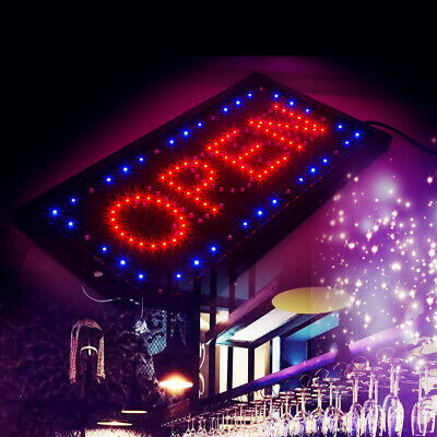 2in1 Bright Led Open Closed Store Shop Business Sign 1020 Display Neon Bar