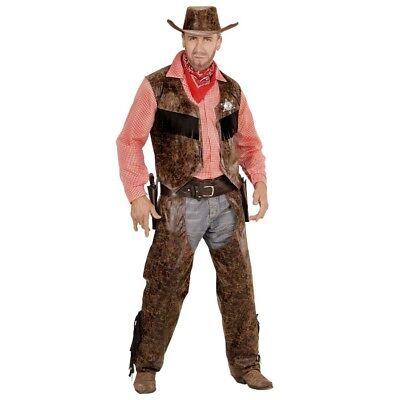 LEDERLOOK COWBOY HERREN KOSTÜM # Karneval Weste Chaps - Cowboy Chaps Kostüm