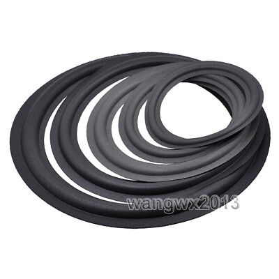 как выглядит Домашнее ТВ, аудио и видео 2pcs 4/5/6.5/8/10/12/6*9 inch Speaker Foam Edge Woofer Surround Circle Repair фото