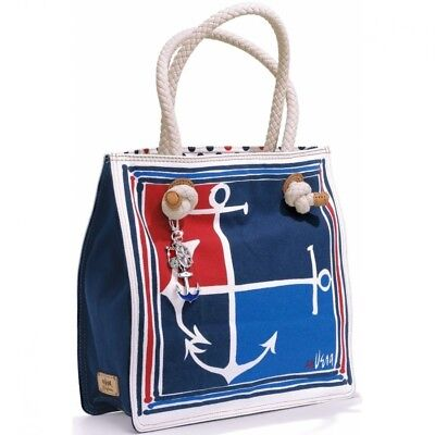 af1d8ff9351d Brighton Celebrates Vera Large Sailor Tote Nautical Charms Navy Red  260 NWT