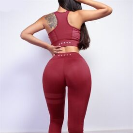 Two Piece sporting Top and Long workout Pants