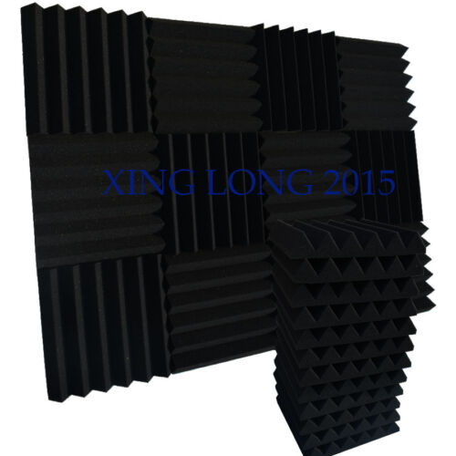 """12 Pack Acoustic Wedge Studio Foam Sound Absorption Wall Panels 2"""" x 12"""" x 12"""""""