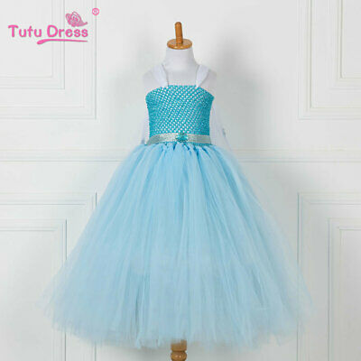 Halloween Frozen (Girls Frozen Princess Anna Elsa Costume Fancy Halloween Party Dress Cosplay)