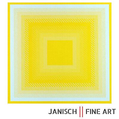RICHARD ANUSZKIEWICZ - Farbsiebdruck, handsigniert, Auflage 125, 1968 - Op-Art !