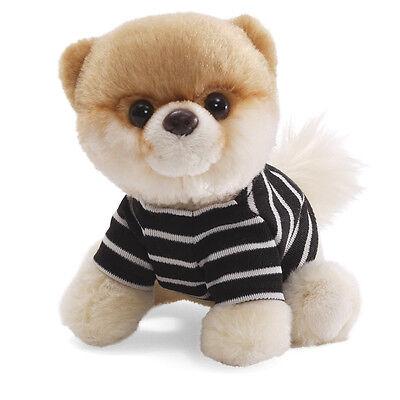 New Gund   Itty Bitty Boo Dog In Stripped Shirt  5  4033190