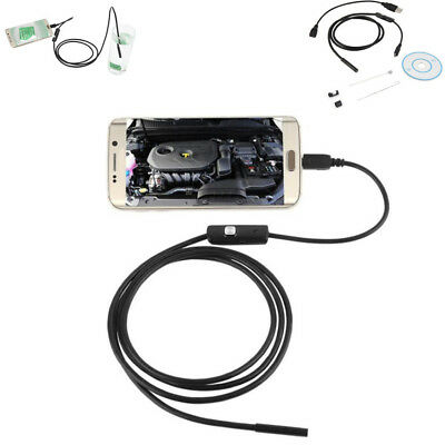 Android 6 Led Adjustable 7mm Lens Endoscope Waterproof Inspection Tube Camera 1m