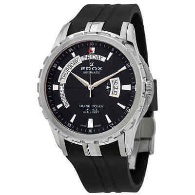 NEW Edox Grand Ocean Men's Day and Date Automatic Watch - 83006 3CA NIN