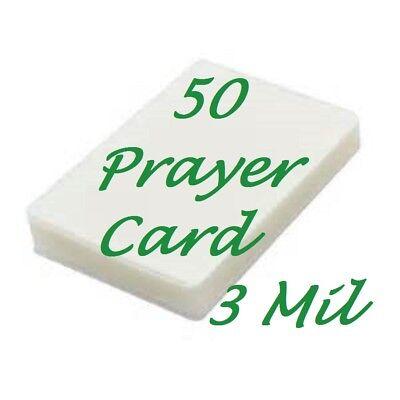 Laminating Laminator Pouches Sheets Prayer Card 50 3 Mil 2-34 X 4-12
