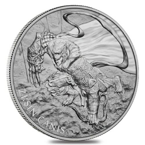 2018 South Korea Zi:Sin Canis 1 oz .999 Silver Medal (in air-tite capsule)