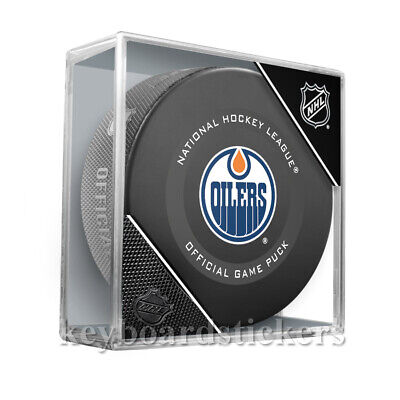 Edmonton Oilers Game (2019-20 Edmonton Oilers Official NHL Hockey Game Puck w/Cube