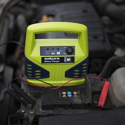 Portable Automotive Battery Charging 12V 8AMP Car Van LED Travel Power Charger