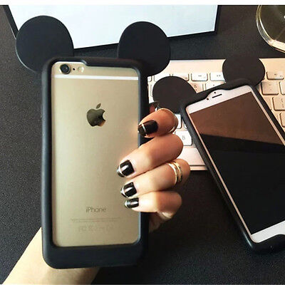 Cute disney mickey mouse Frame Silicone soft case Cover for iphone 6 6S plus 5S