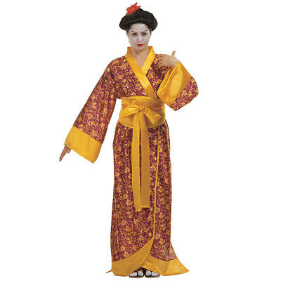 JAPANERIN DAMEN KOSTÜM # Karneval Kimono Geisha Kyoto Japan Chinesin Asien 3538