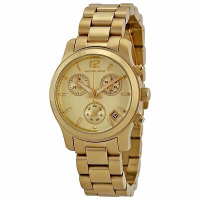 Michael Kors MK5384 Mini Runway Golden Wrist Watch for Women
