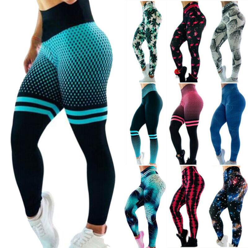 3D Women Ruching Butt Push Up Leggings Yoga Apparel Anti-Cel