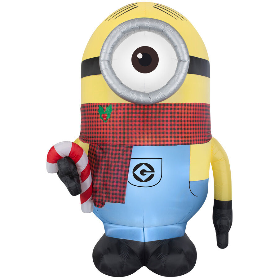 Stuart Gemmy 8.95-ft X 4.65-ft Lighted Minion Christmas Inflatable Despicable Me