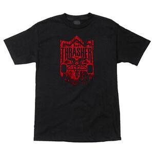 Thrasher-Magazine-X-Habitat-DARK-FOREST-SKATE-GOAT-Skateboard-Shirt-BLACK-MEDIUM